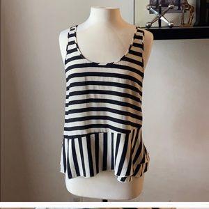 J. Crew 💯 silk striped top